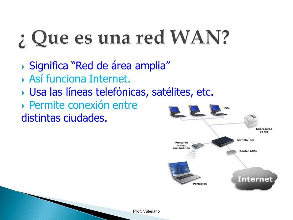 ¿ Que es una red WAN Significa Red de área amplia