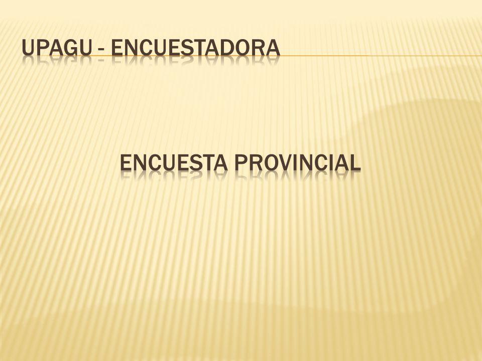 UPAGU - ENCUESTADORA Encuesta provincial