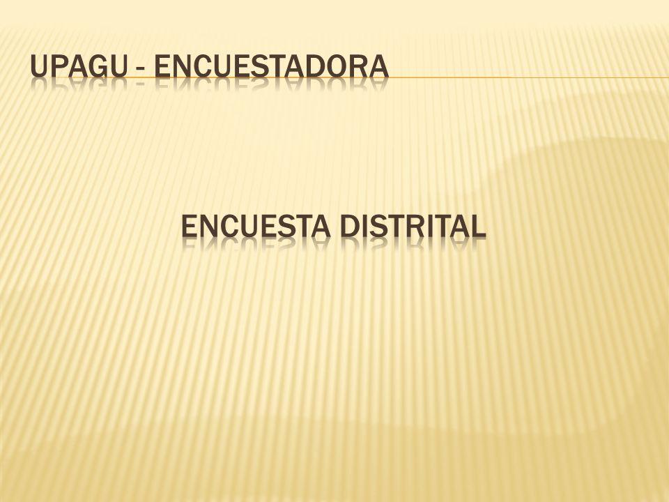 UPAGU - ENCUESTADORA Encuesta distrital