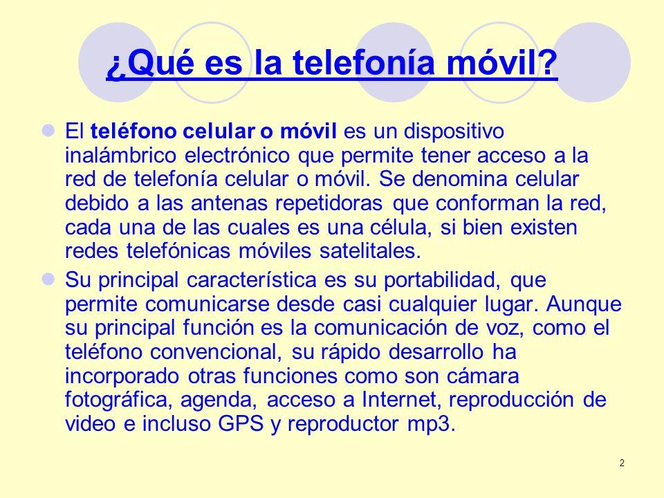 ¿Qué es la telefonía móvil