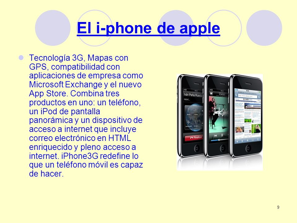 El i-phone de apple