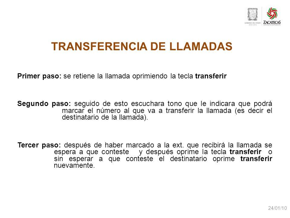TRANSFERENCIA DE LLAMADAS