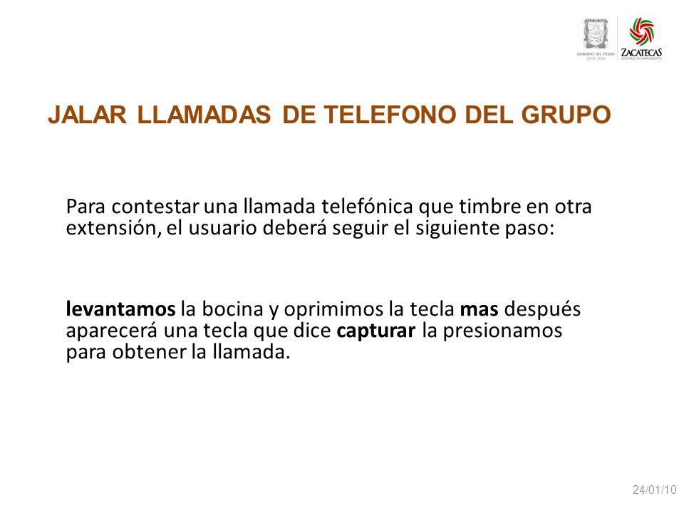 JALAR LLAMADAS DE TELEFONO DEL GRUPO
