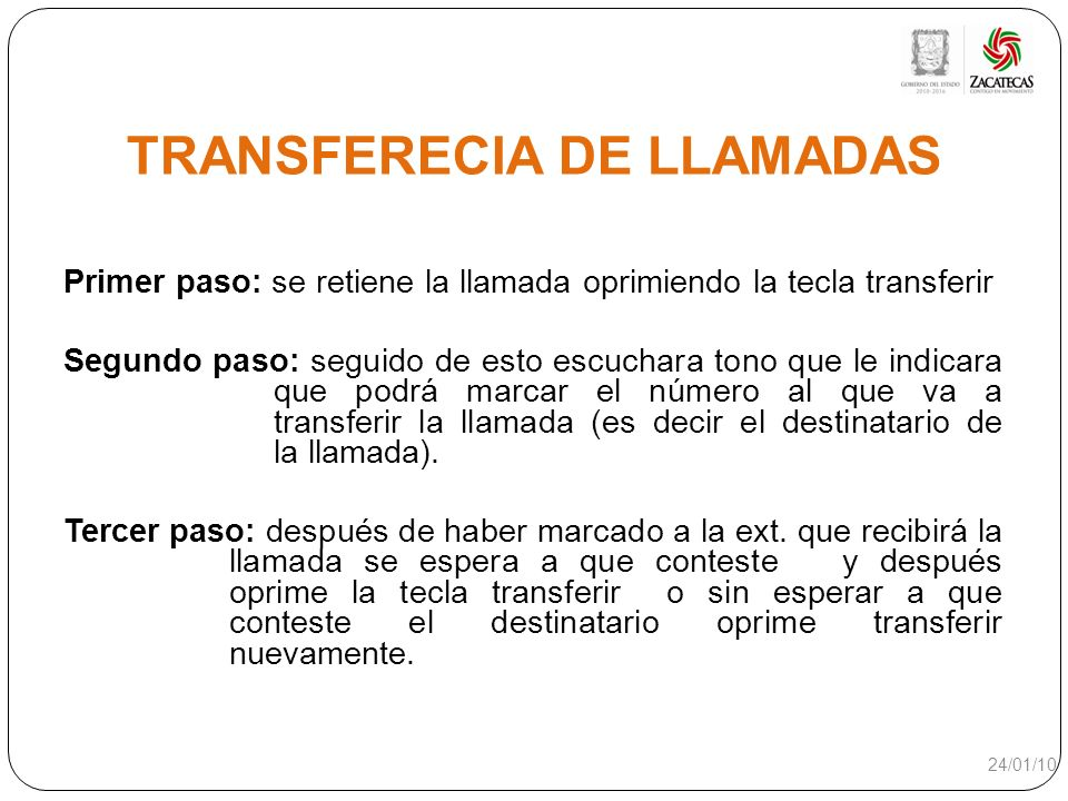 TRANSFERECIA DE LLAMADAS