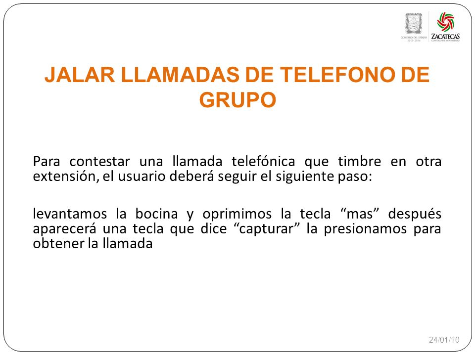 JALAR LLAMADAS DE TELEFONO DE GRUPO