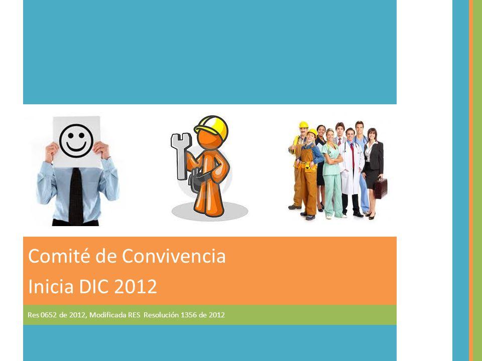 Comité de Convivencia Inicia DIC 2012