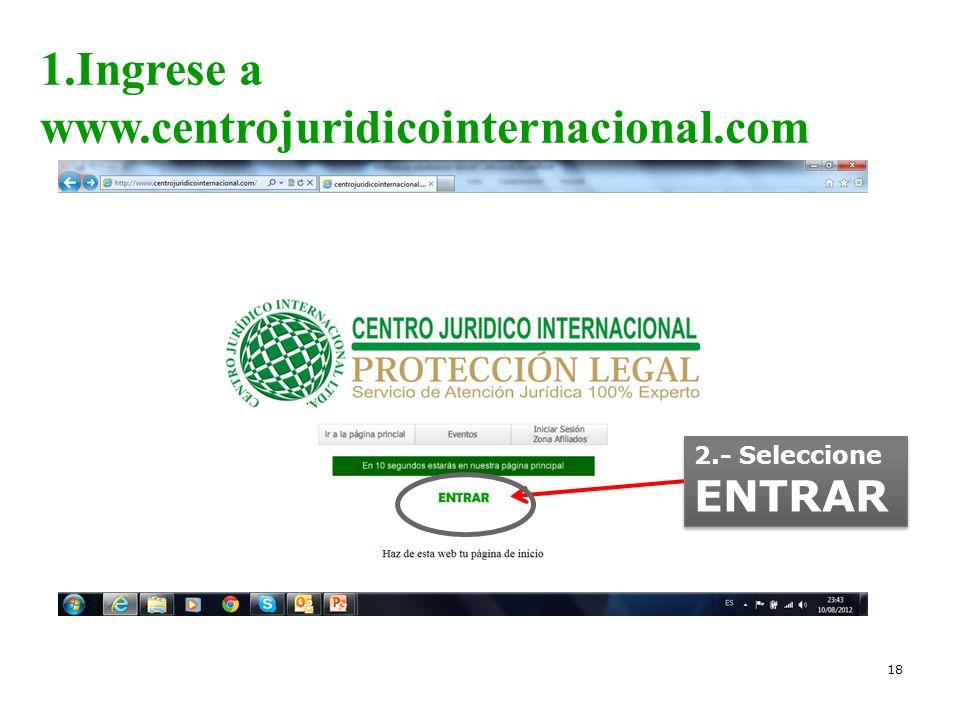 1.Ingrese a www.centrojuridicointernacional.com
