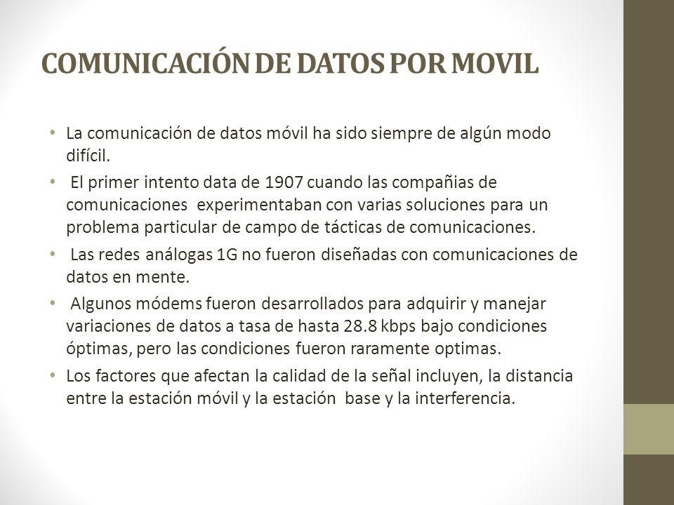 COMUNICACIÓN DE DATOS POR MOVIL