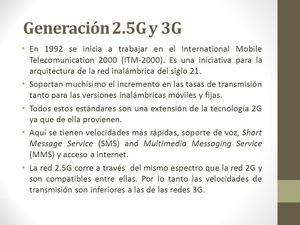 Generación 2.5G y 3G