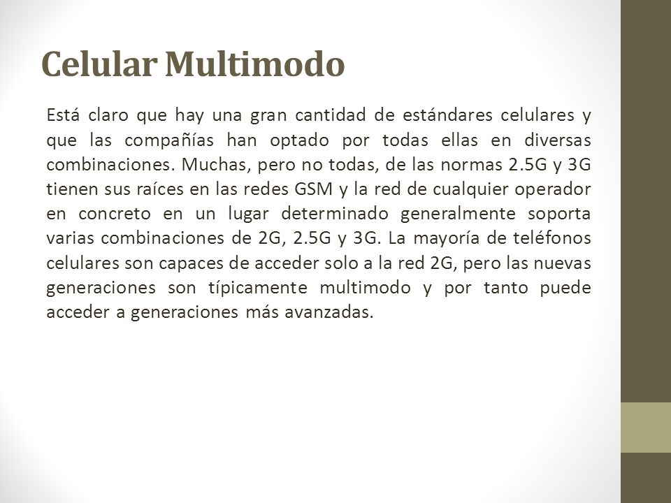 Celular Multimodo