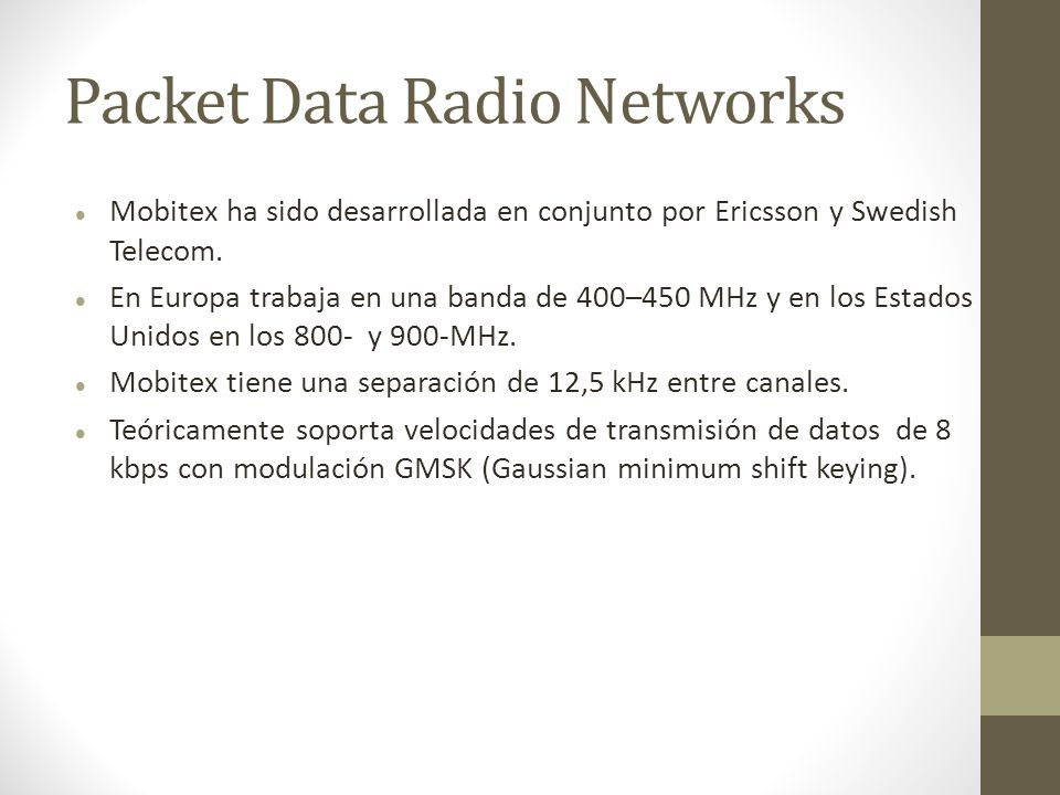 Packet Data Radio Networks