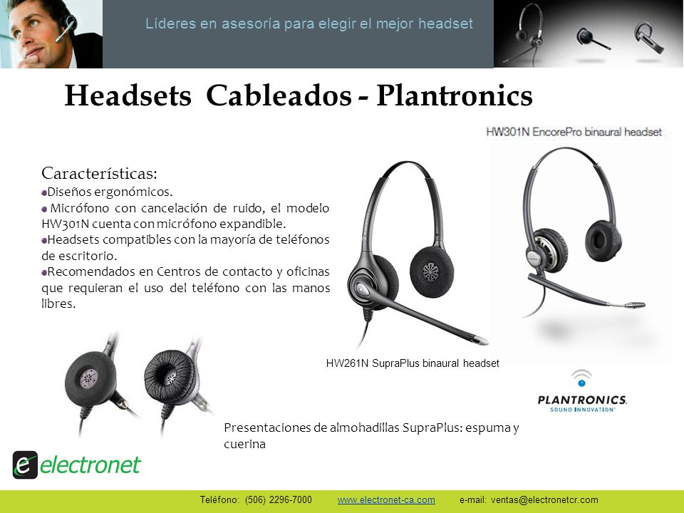 Headsets Cableados - Plantronics