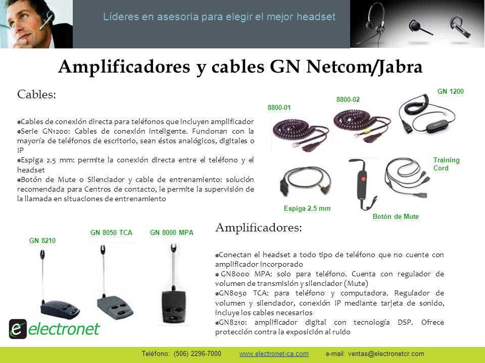 Amplificadores y cables GN Netcom/Jabra