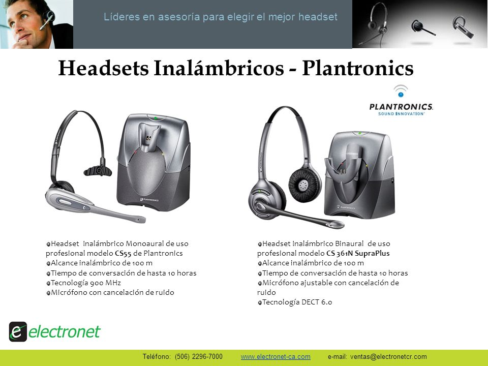Headsets Inalámbricos - Plantronics