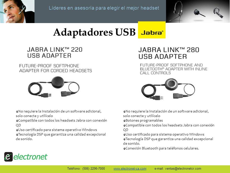 Adaptadores USB No requiere la instalación de un software adicional, solo conecte y utilícelo.