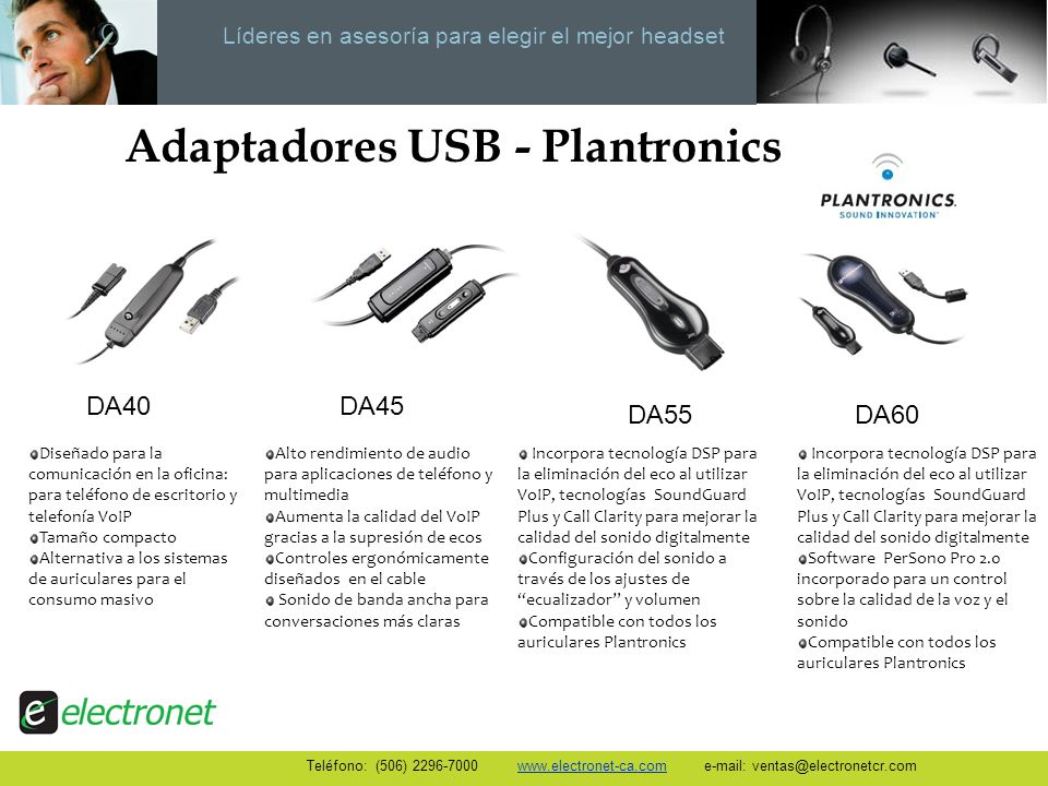 Adaptadores USB - Plantronics