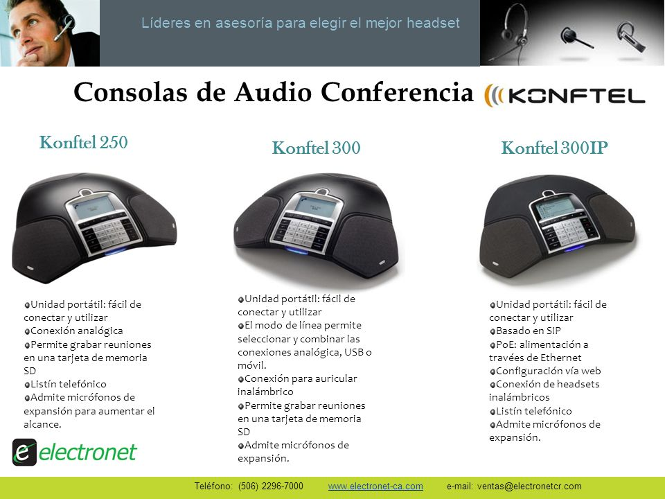 Consolas de Audio Conferencia
