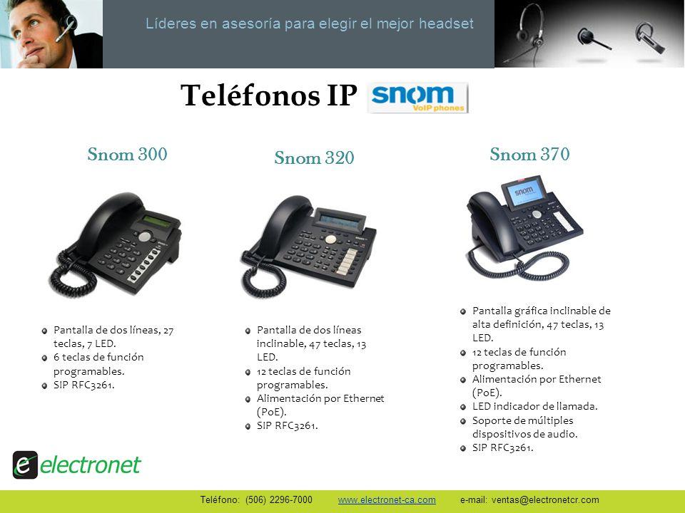 Teléfonos IP Snom 300 Snom 320 Snom 370