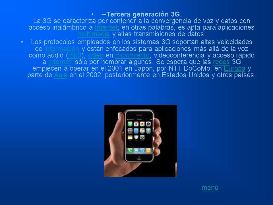 --Tercera generación 3G