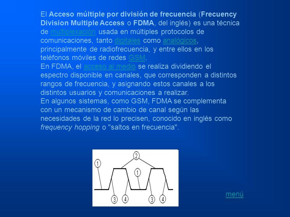 El Acceso múltiple por división de frecuencia (Frecuency Division Multiple Access o FDMA, del inglés) es una técnica de multiplexación usada en múltiples protocolos de comunicaciones, tanto digitales como analógicos, principalmente de radiofrecuencia, y entre ellos en los teléfonos móviles de redes GSM.