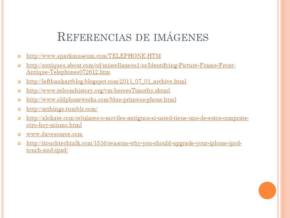Referencias de imágenes