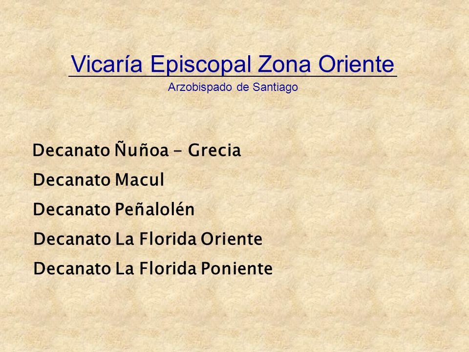 Vicaría Episcopal Zona Oriente