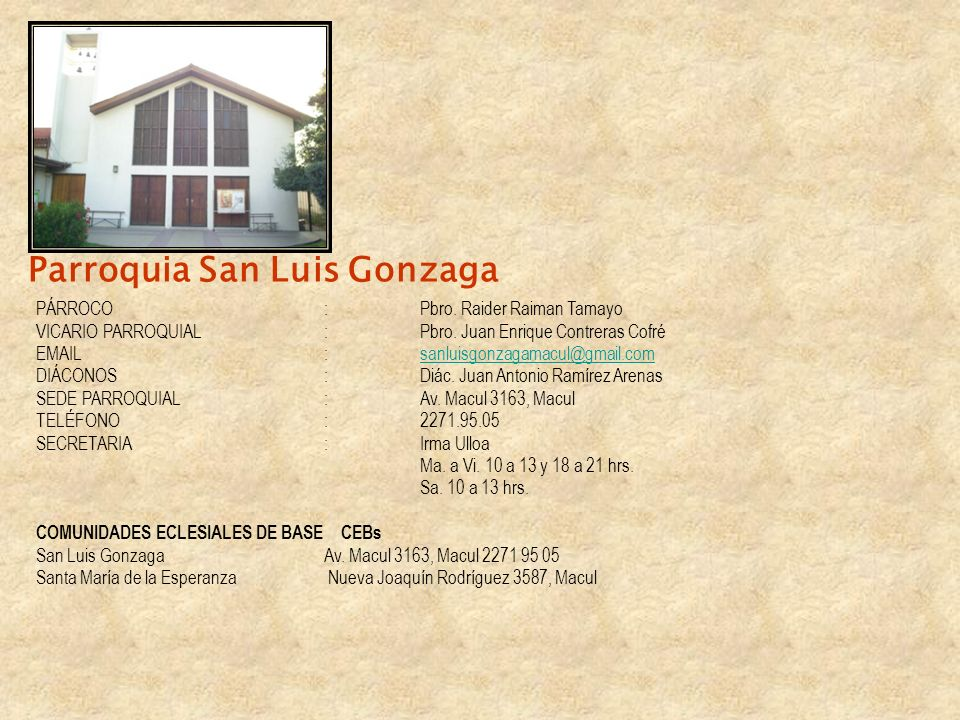 Parroquia San Luis Gonzaga