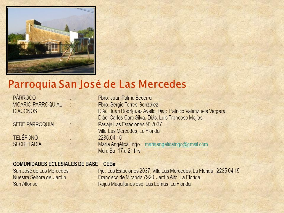 Parroquia San José de Las Mercedes