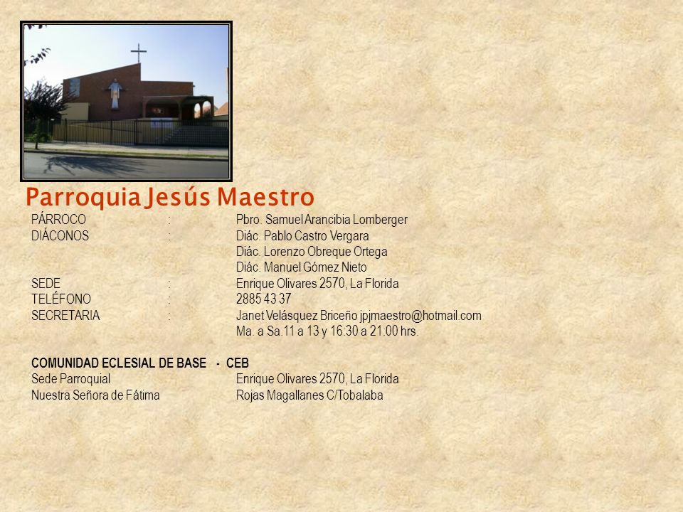 Parroquia Jesús Maestro