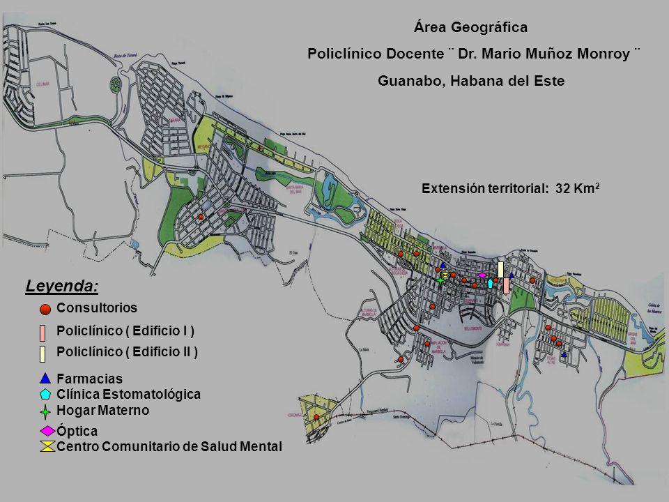 Leyenda: Área Geográfica