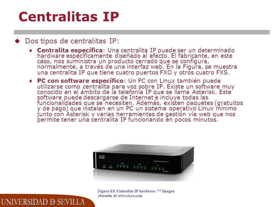Centralitas IP Dos tipos de centralitas IP:
