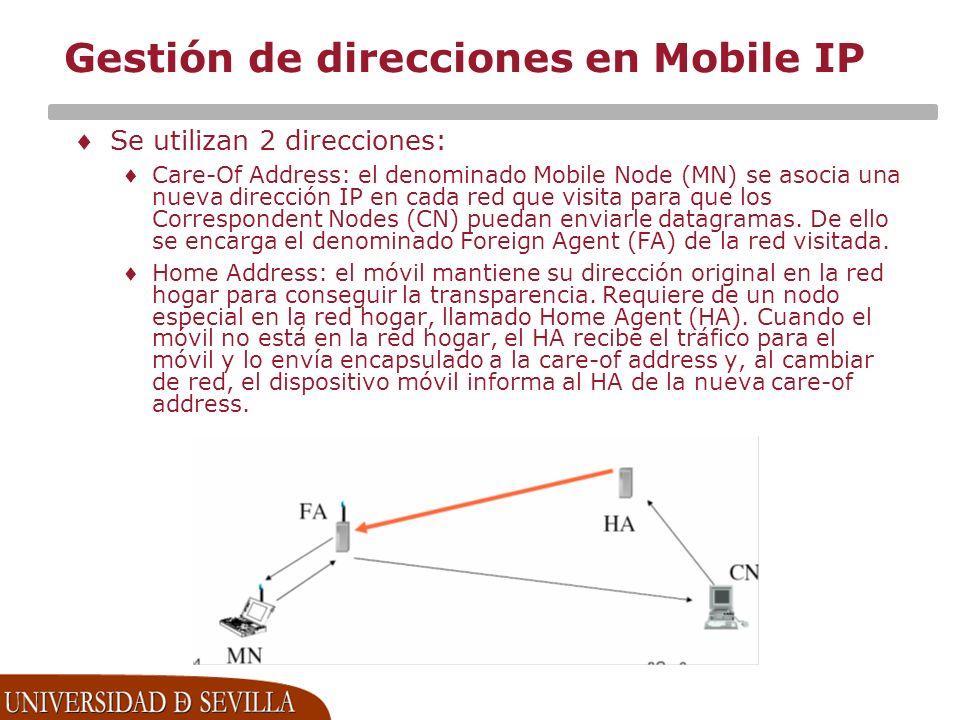 Gestión de direcciones en Mobile IP