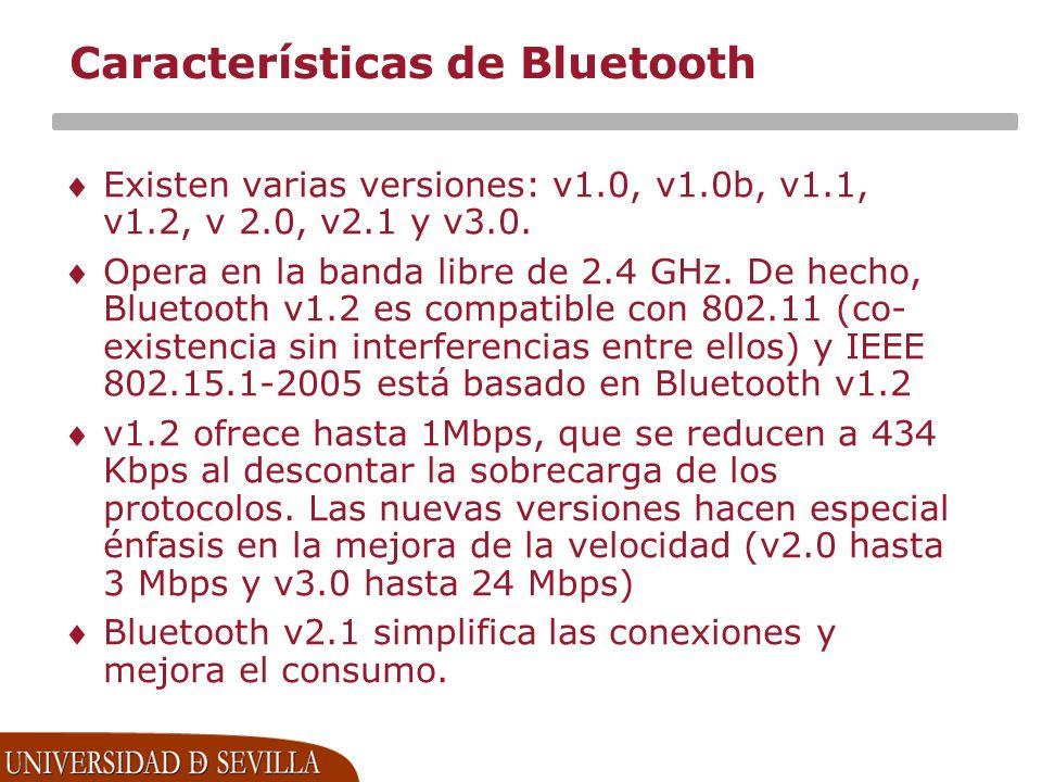 Características de Bluetooth