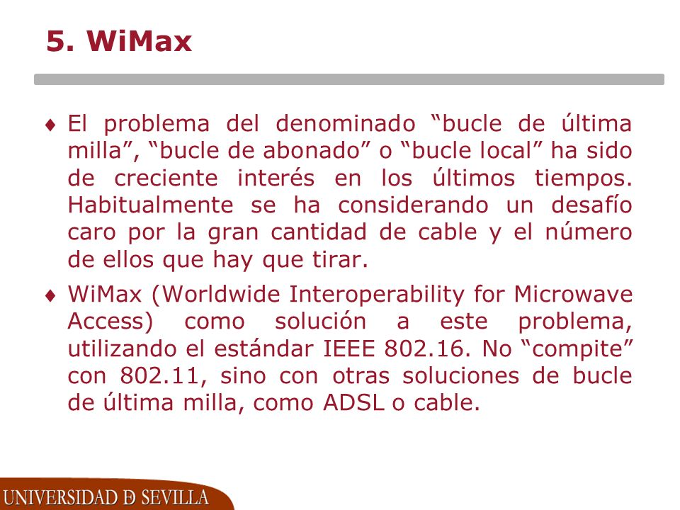 5. WiMax