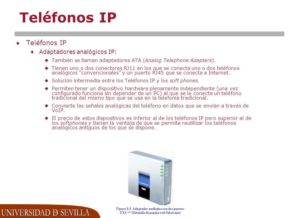 Teléfonos IP Teléfonos IP Adaptadores analógicos IP: