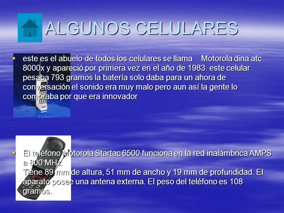 ALGUNOS CELULARES