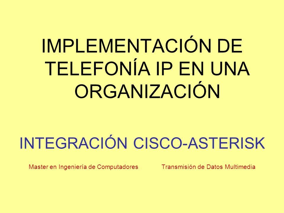 IMPLEMENTACIÓN DE TELEFONÍA IP EN UNA ORGANIZACIÓN