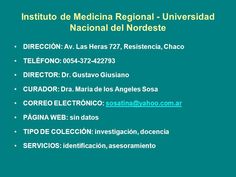 Instituto de Medicina Regional - Universidad Nacional del Nordeste