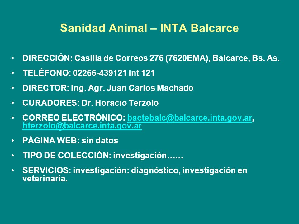 Sanidad Animal – INTA Balcarce