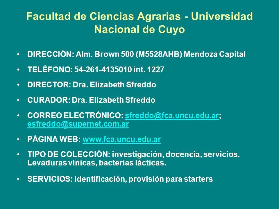 Facultad de Ciencias Agrarias - Universidad Nacional de Cuyo