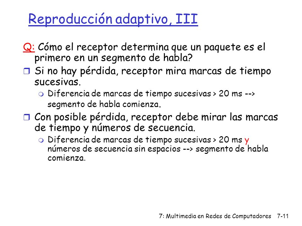 Reproducción adaptivo, III