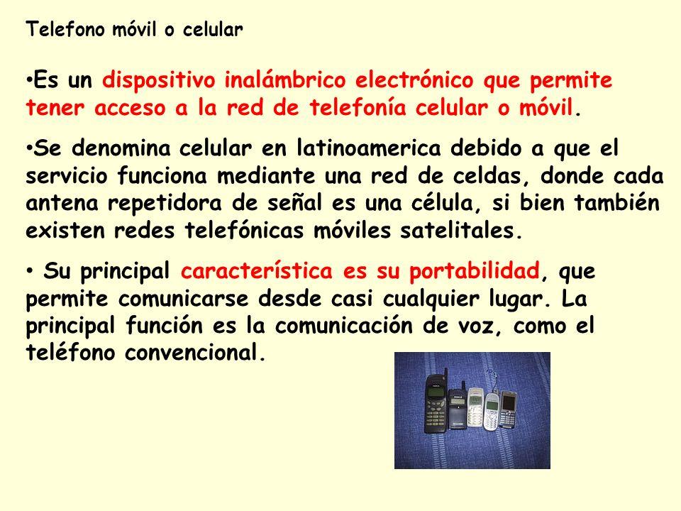 Telefono móvil o celular