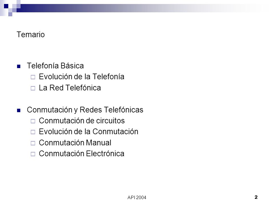 Evolución de la Telefonía La Red Telefónica