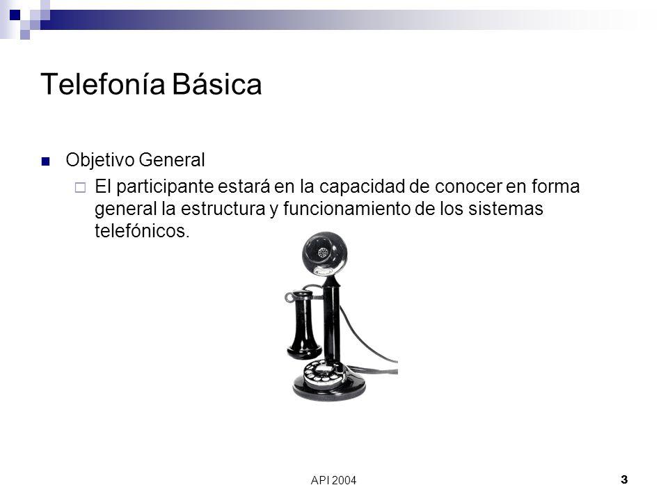 Telefonía Básica Objetivo General