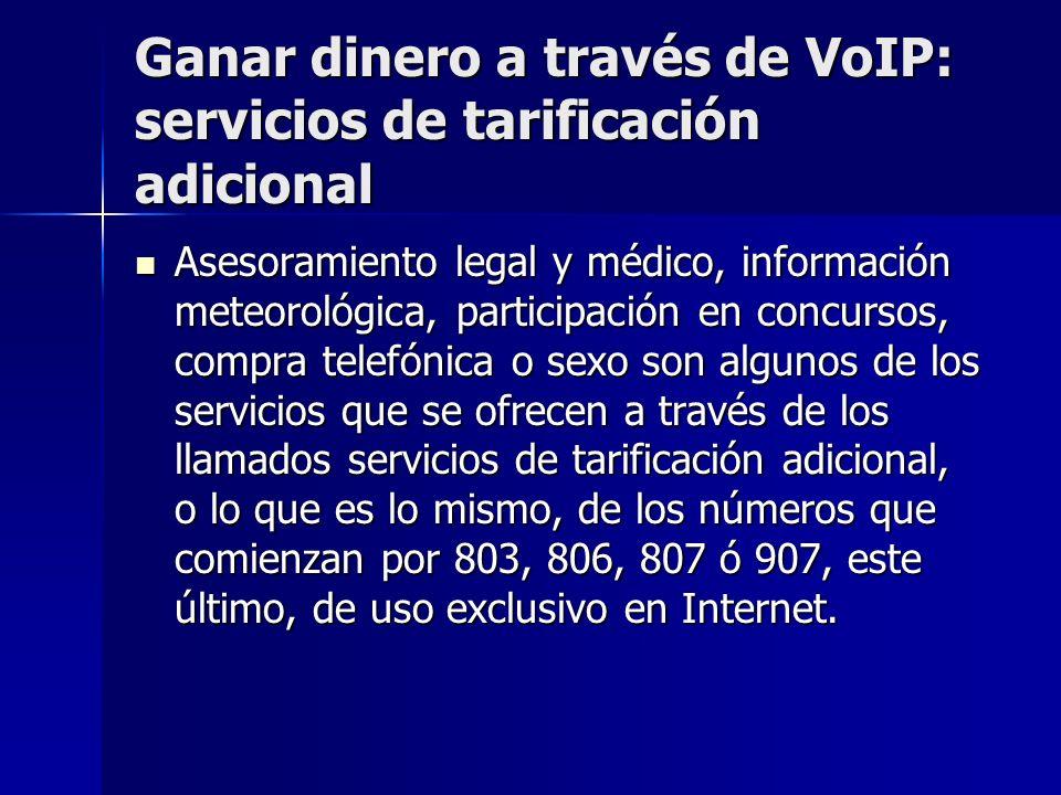 Ganar dinero a través de VoIP: servicios de tarificación adicional