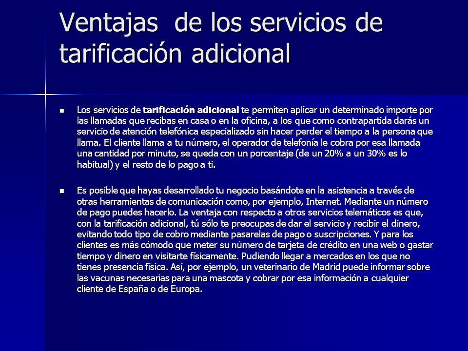 Ventajas de los servicios de tarificación adicional