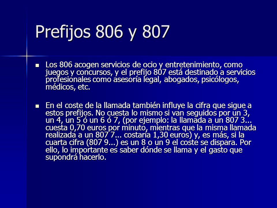 Prefijos 806 y 807