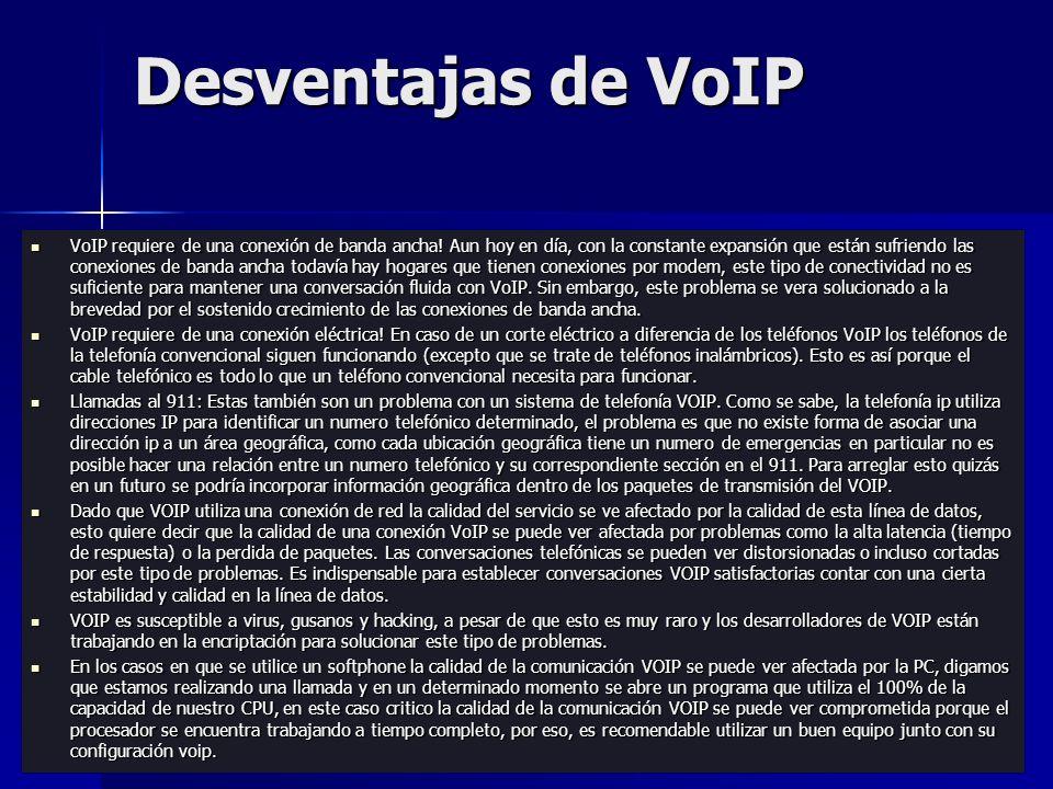 Desventajas de VoIP