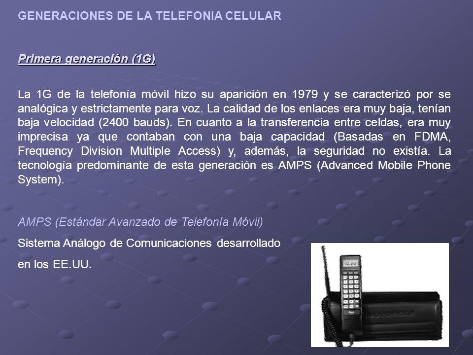 GENERACIONES DE LA TELEFONIA CELULAR