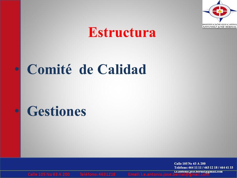 Estructura Comité de Calidad Gestiones